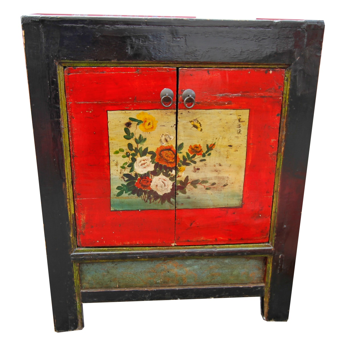 Chinese Black and Red Lacquered Cabinet