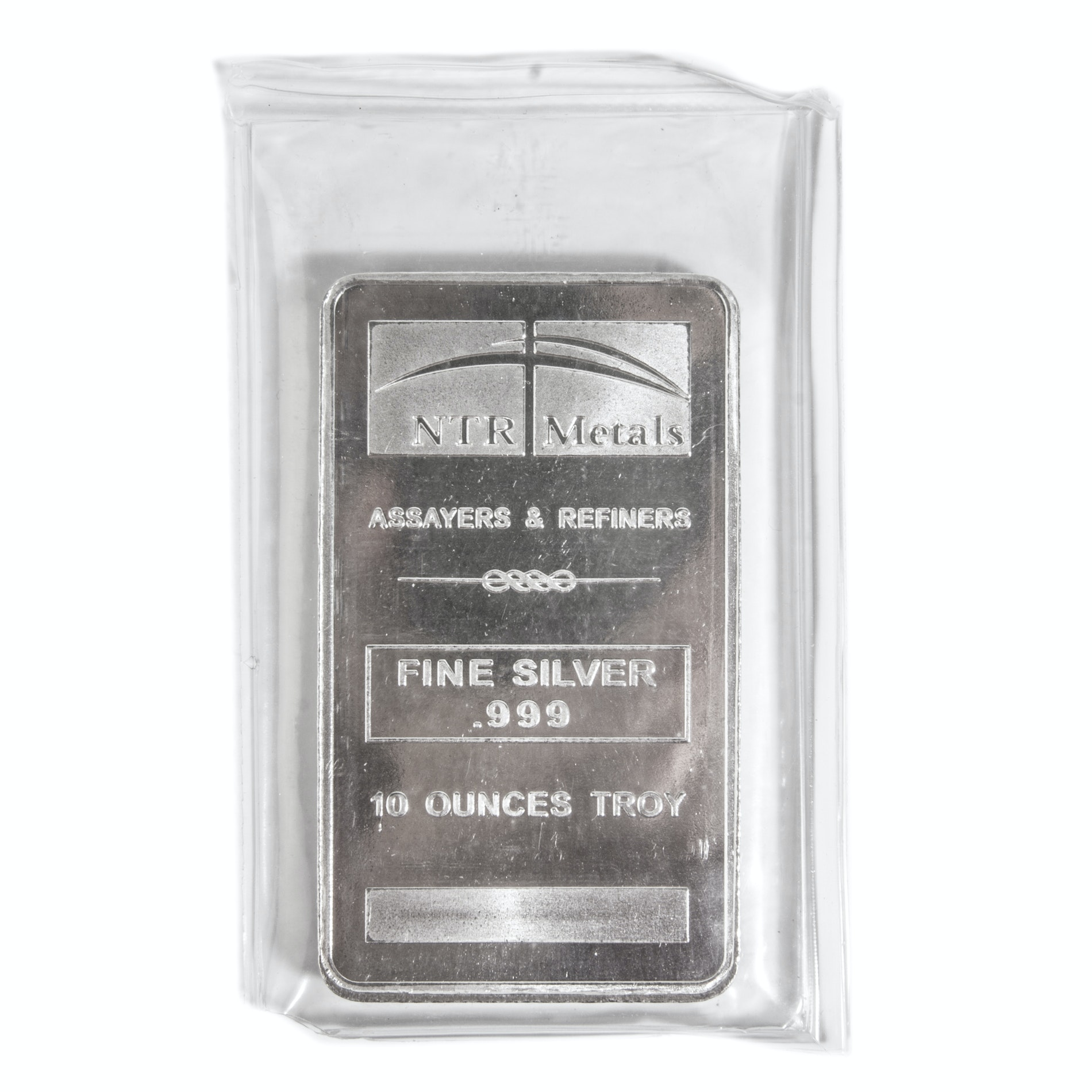NTR Metals .999 Fine Silver 10 Ounces Troy Bar