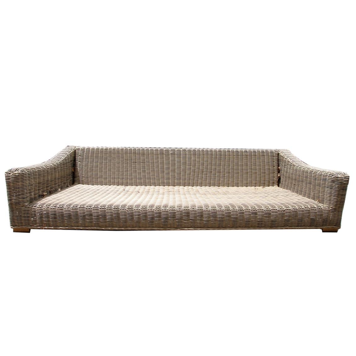 Restoration Hardware Wicker Outdoor Sofa
