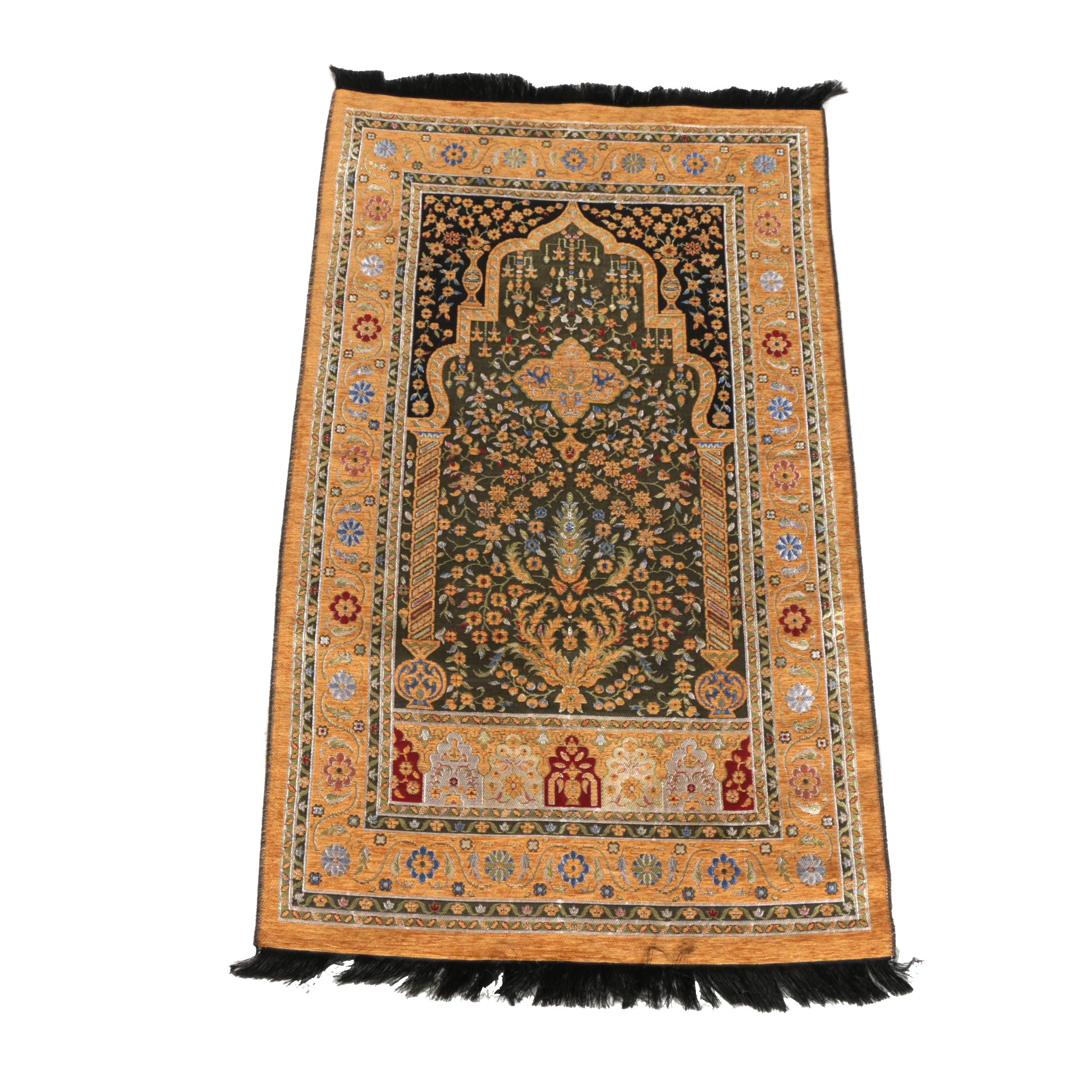Hand-Knotted Persian Prayer Rug