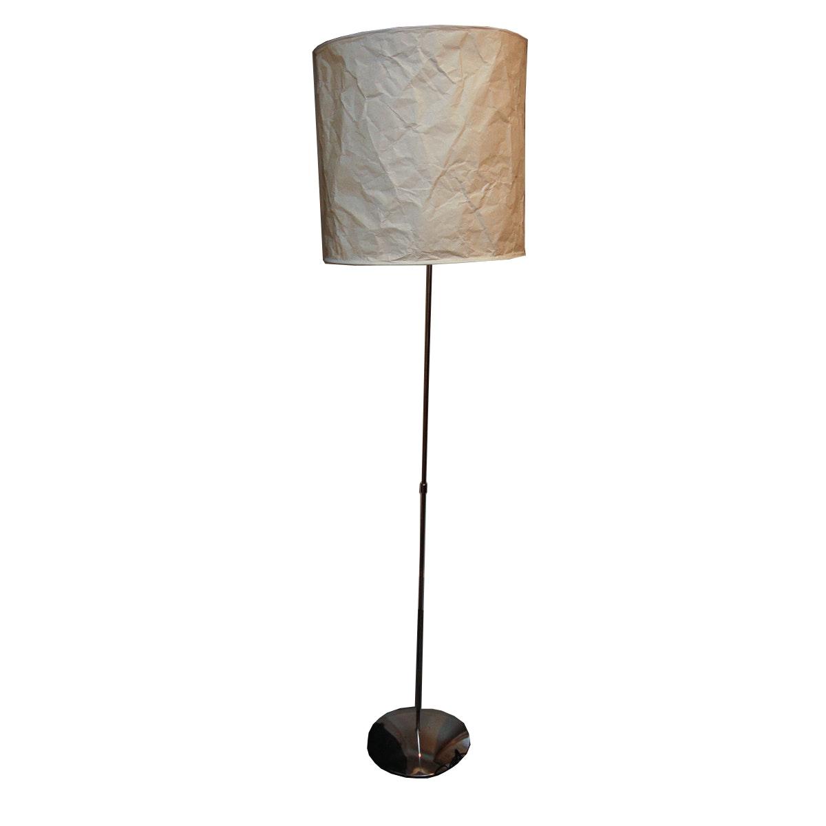 Brown Metal Floor Lamp with Shade
