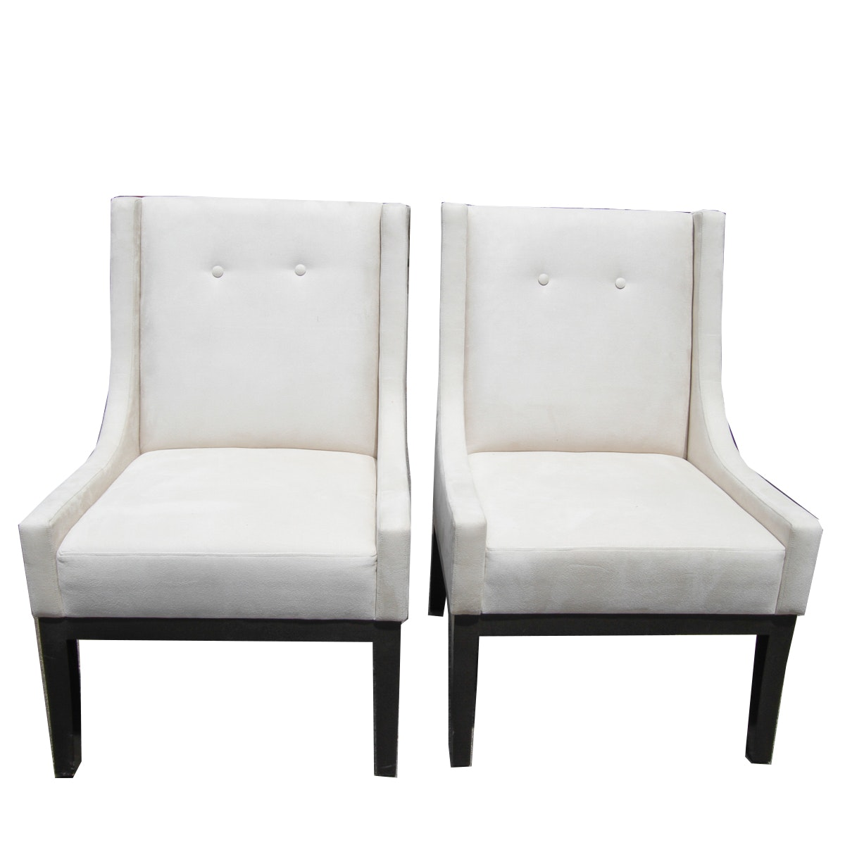 White Upholstered Armchairs