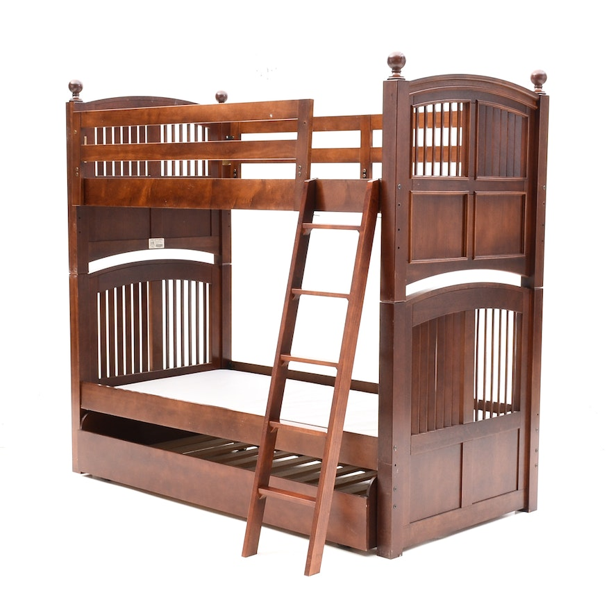 Stanley Twin Bunk Beds With Trundle Bed Ebth