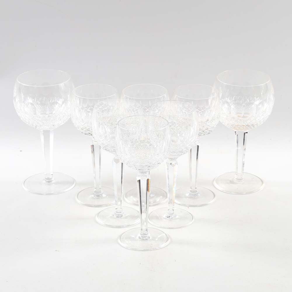 "Waterford Crystal ""Colleen"" Wine Glasses"