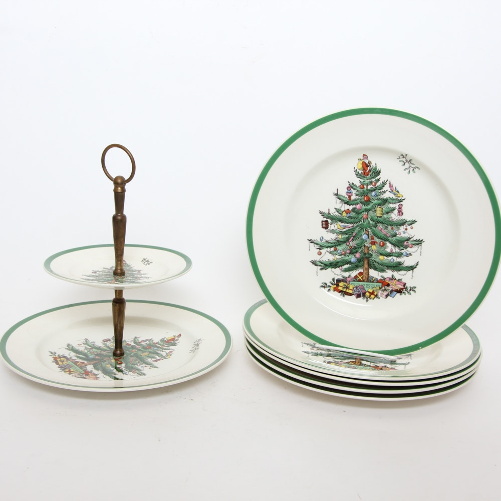 Collection of Spode Christmas Tableware