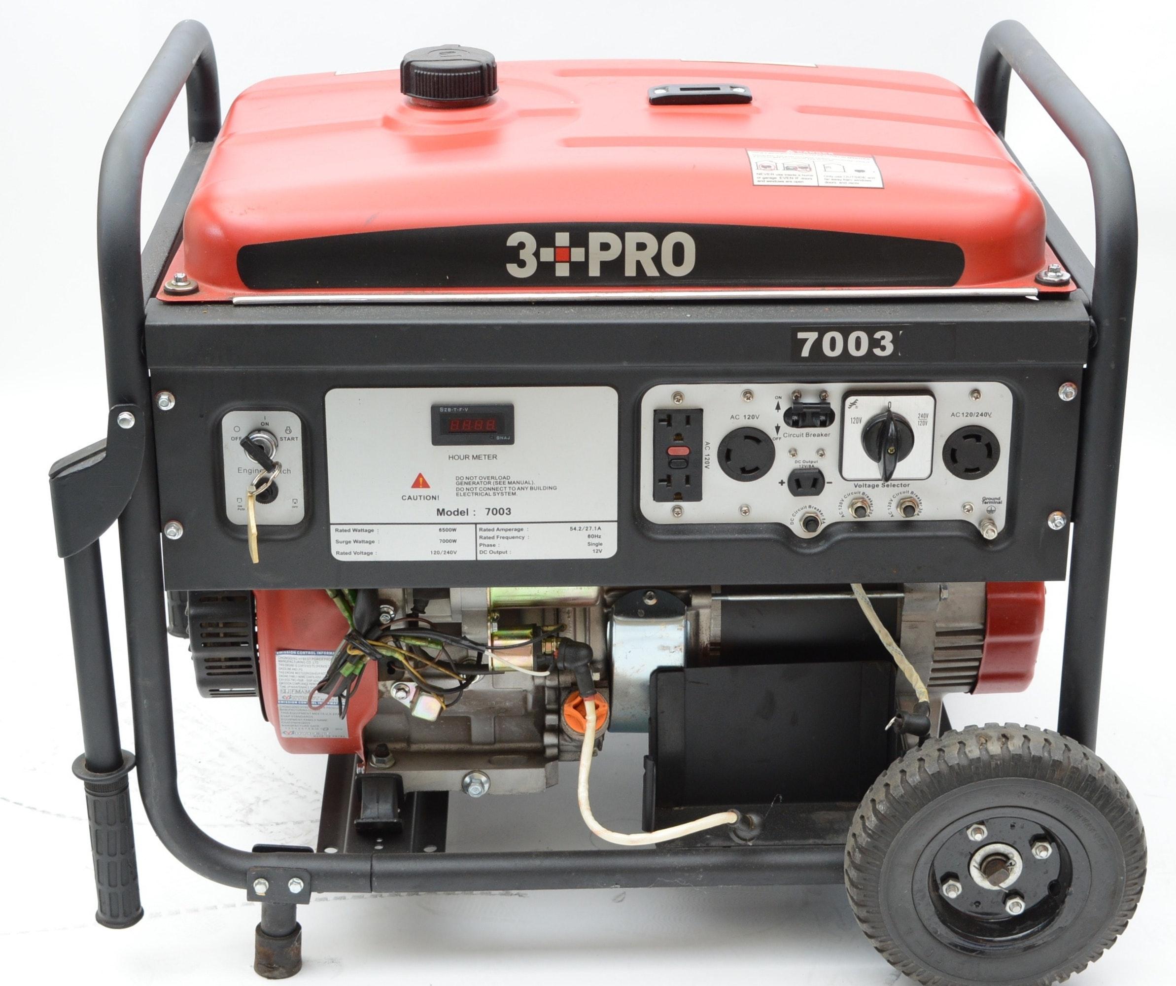 3 PRO 7000 Watt Gasoline Generator