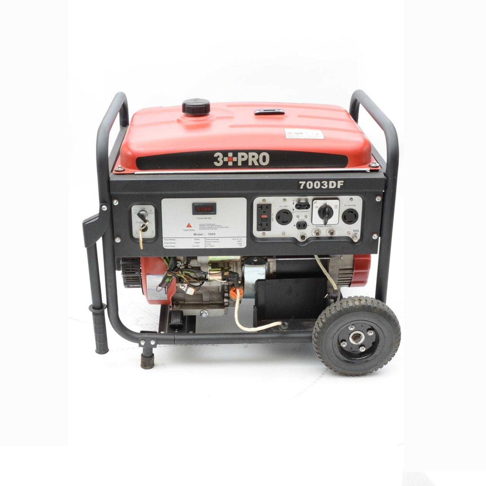 3 PRO 7000 Watt Duel Fuel Generator