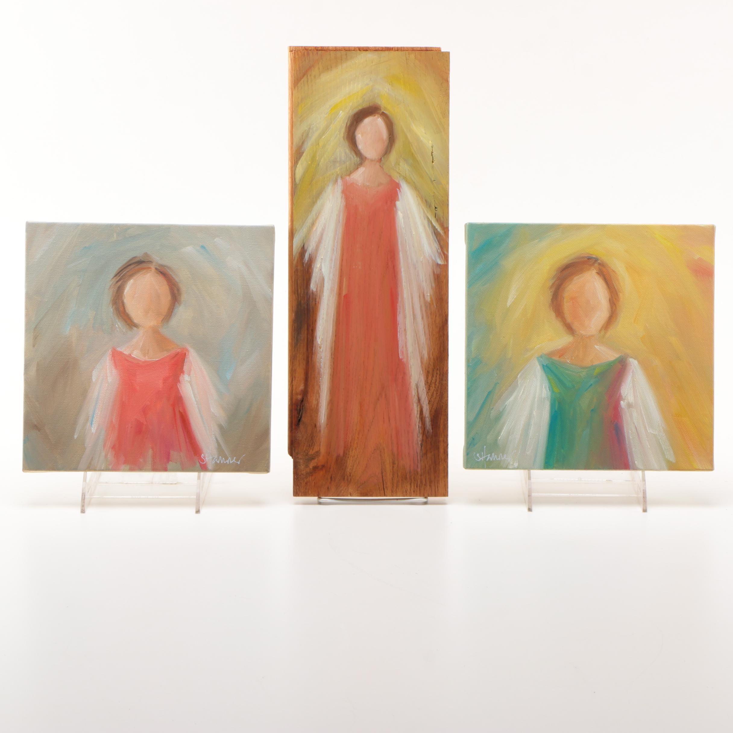 Susan Hamner Oil Paintings of Angels