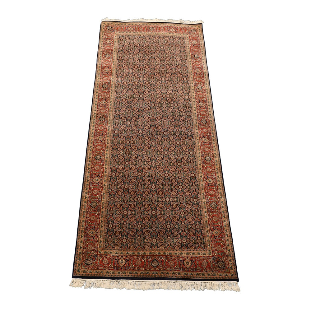 Hand-Knotted Indo-Persian Carpet Runner