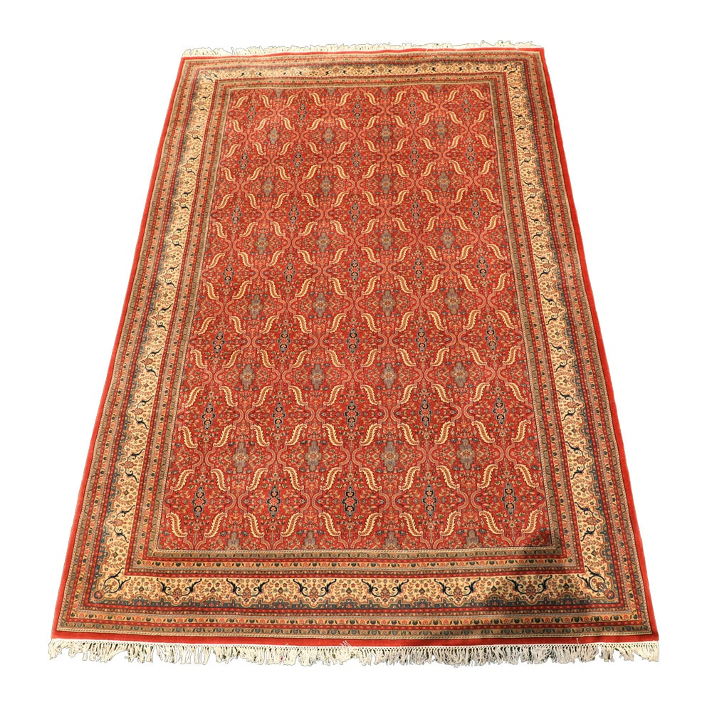 Room Sized Hand-Knotted Indo-Persian Area Rug