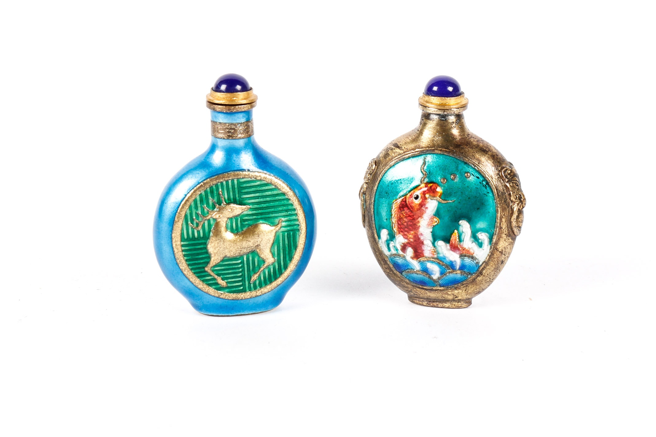 Two Chinese Enameled  Snuff Bottles