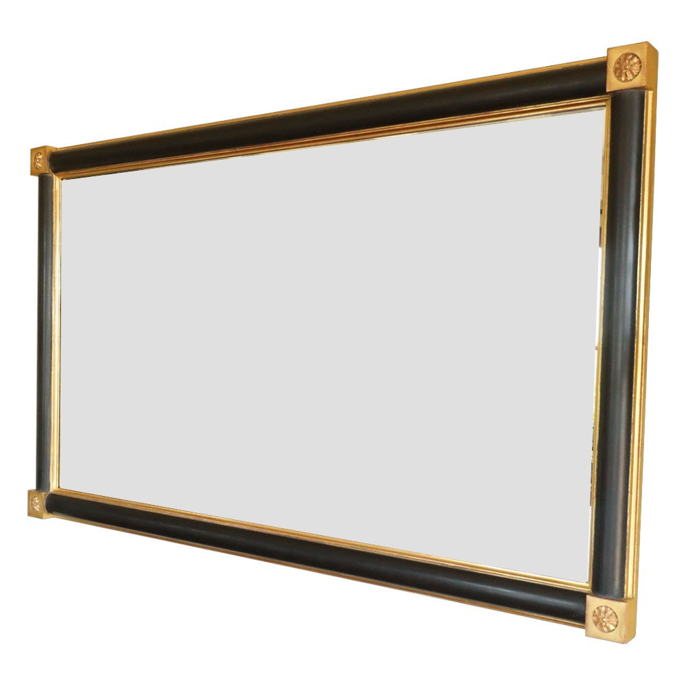 Large Ebonized and Gilt Federal Style Mirror