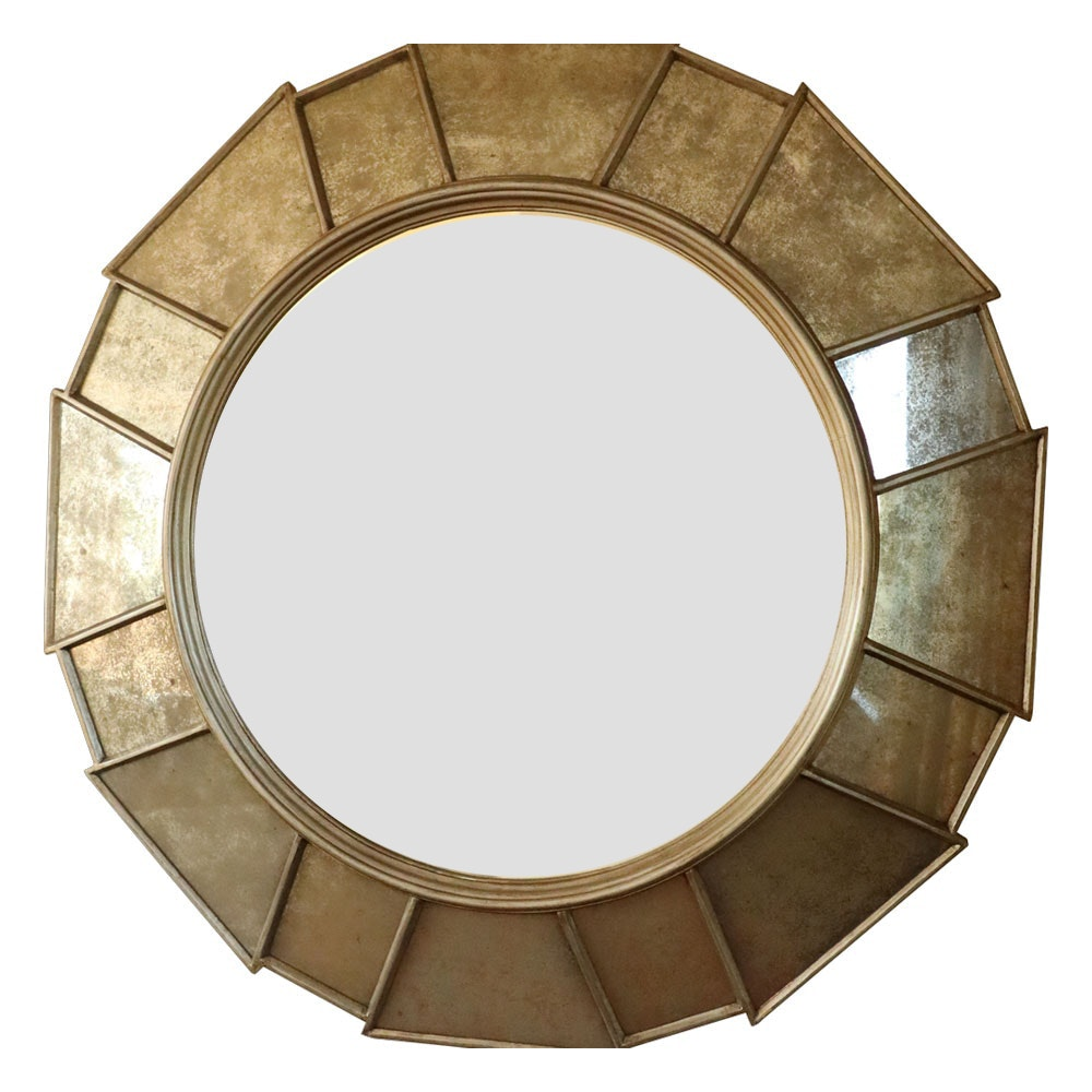 Substantial Brutalist Style Wall Mirror