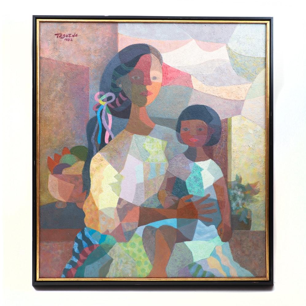 Original Romeo Tabuena Acrylic Painting on Canvas