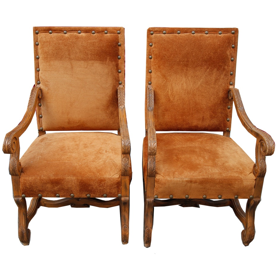 Pair of Louis XIV Style Chairs