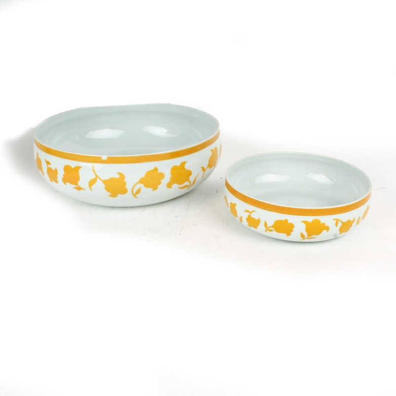 "Pair of Vintage Vista Alegre Hearthstone ""Ginger"" Bowls"