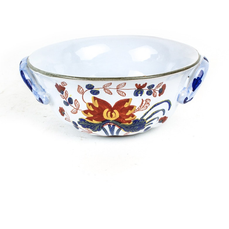 Tiffany & Co Hand Painted Italian Majolica Bowl