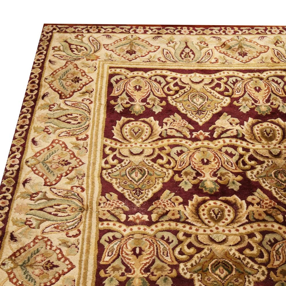 Hand-Knotted Indo-Persian Wool Area Rug