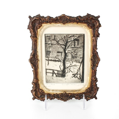 """Signed  Etching """"Winter"""""""
