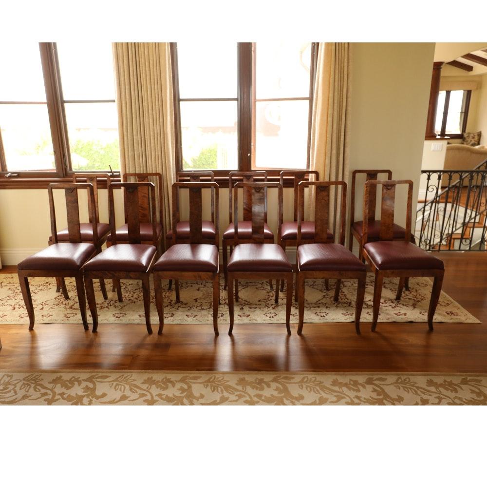 Set of Twelve Biedermeier Style Dining Chairs