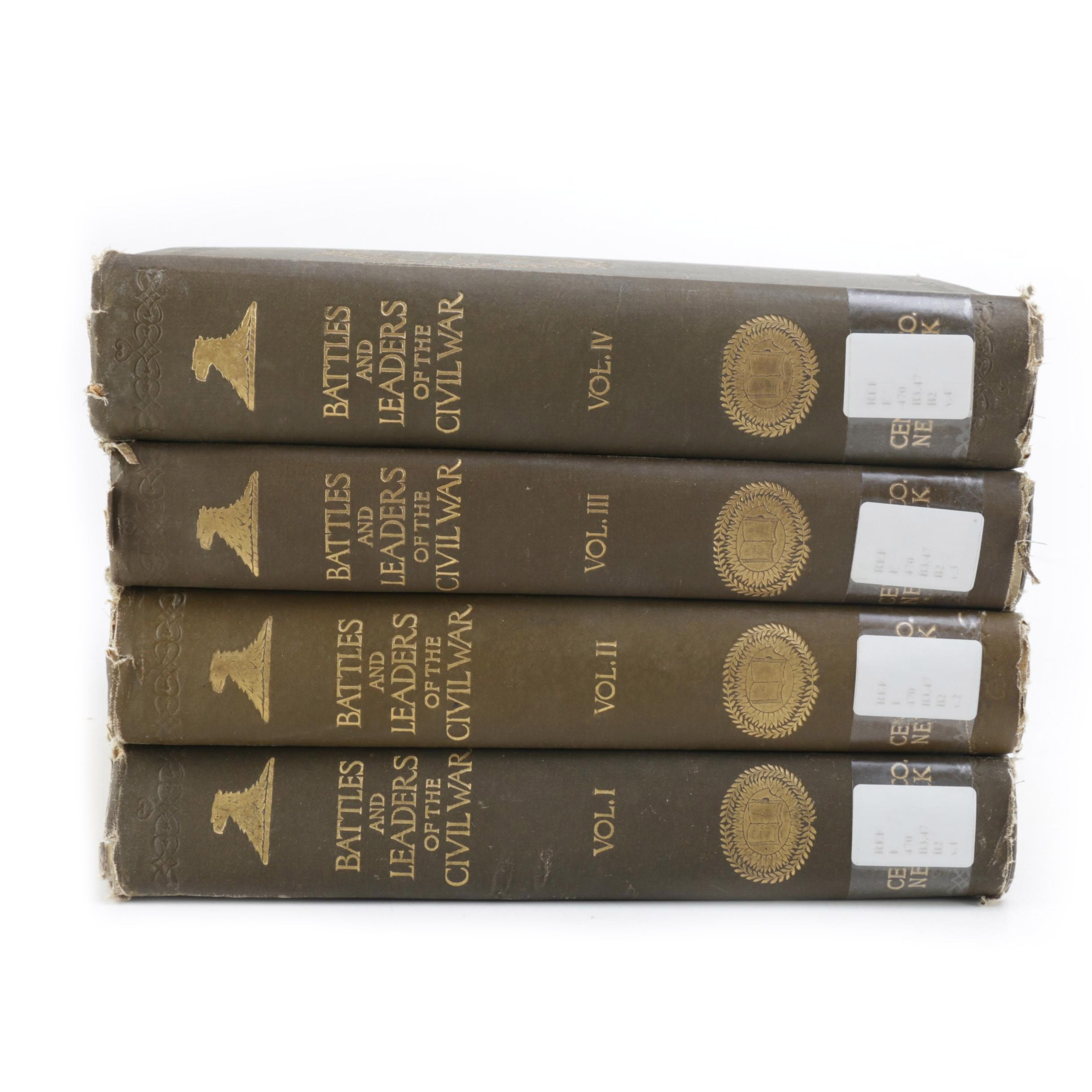 "1887 ""Battles and Leaders of the Civil War"" in Four Volumes"