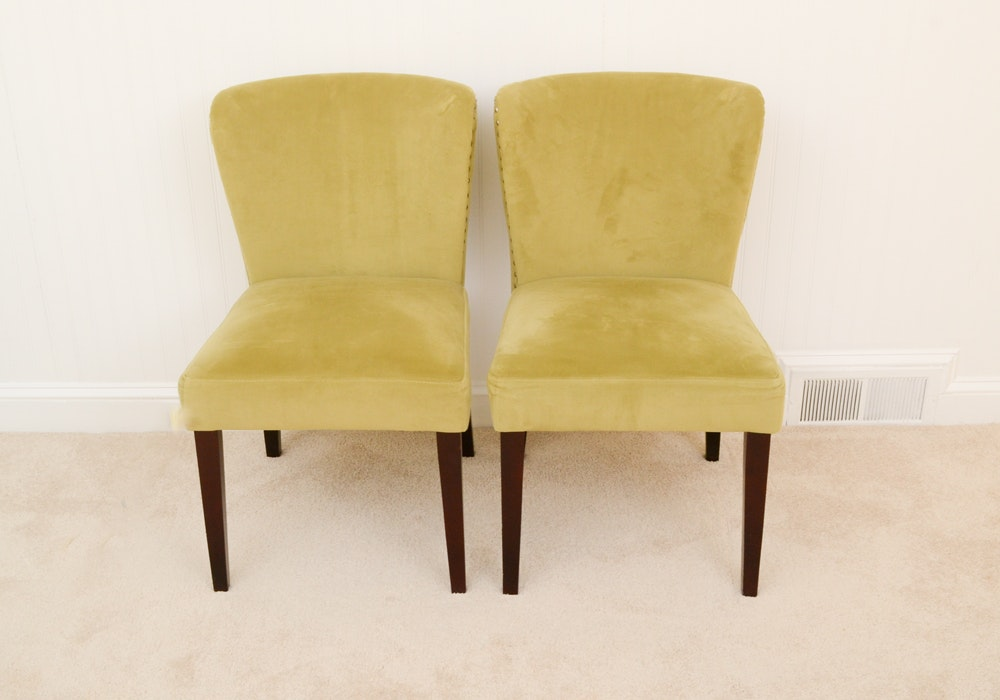 Pair Of Slipper Chairs By Cost Plus Inc.