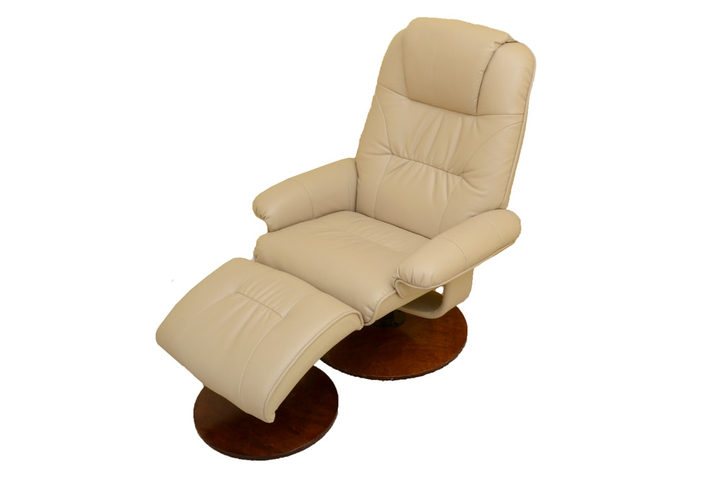 Reclining Lounge Chair and Footrest