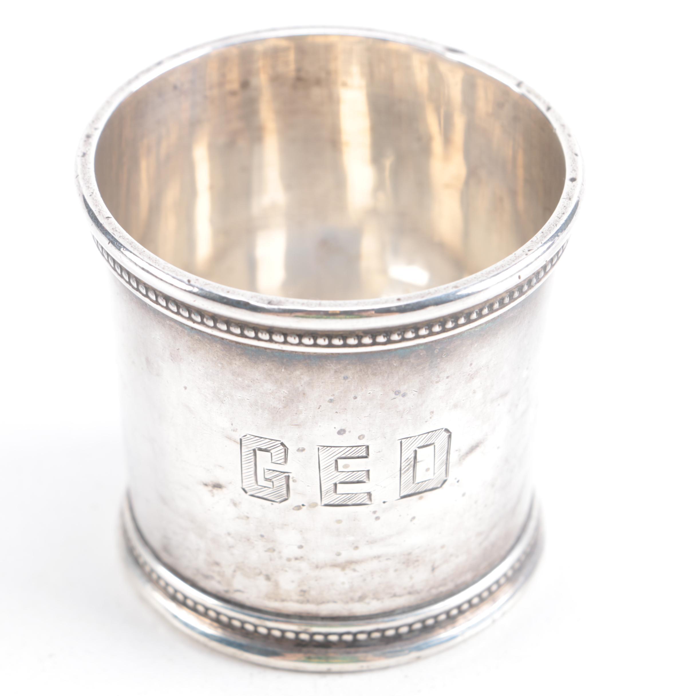 Sterling Silver Presidential LBJ Mint Julep Cup by Mark J. Scearce