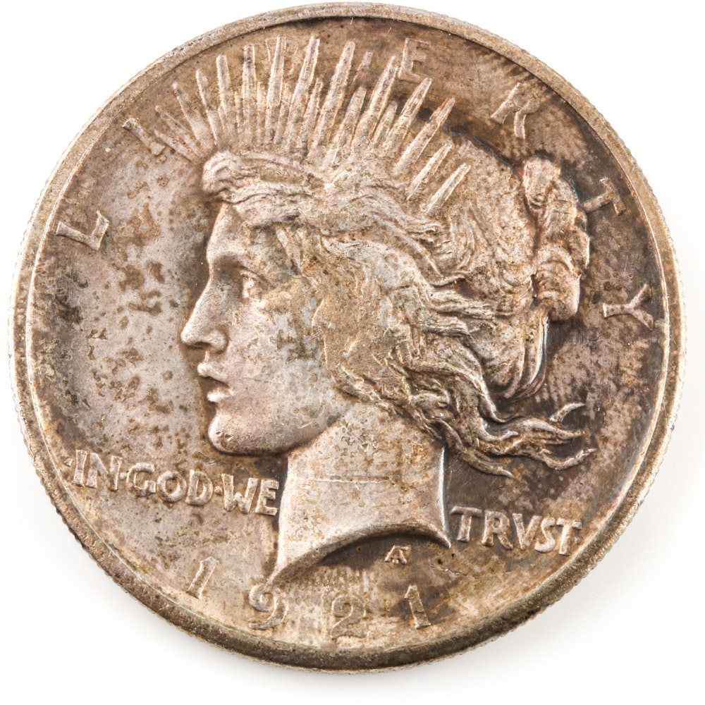 Key Date 1921 High Relief Peace Dollar
