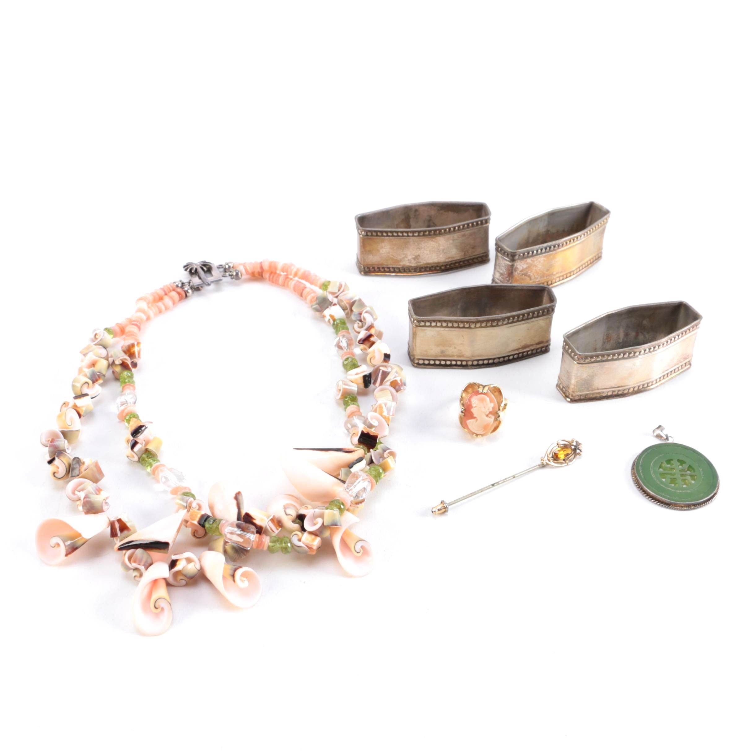 Costume Jewelry and Accessories Including a Sterling Silver Lily Pulitzer Necklace