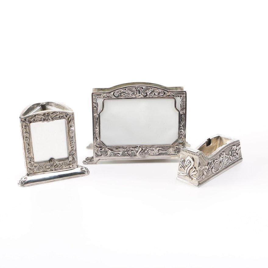 Godinger Silver Art Co. Silver Plate Desk Accessories : EBTH