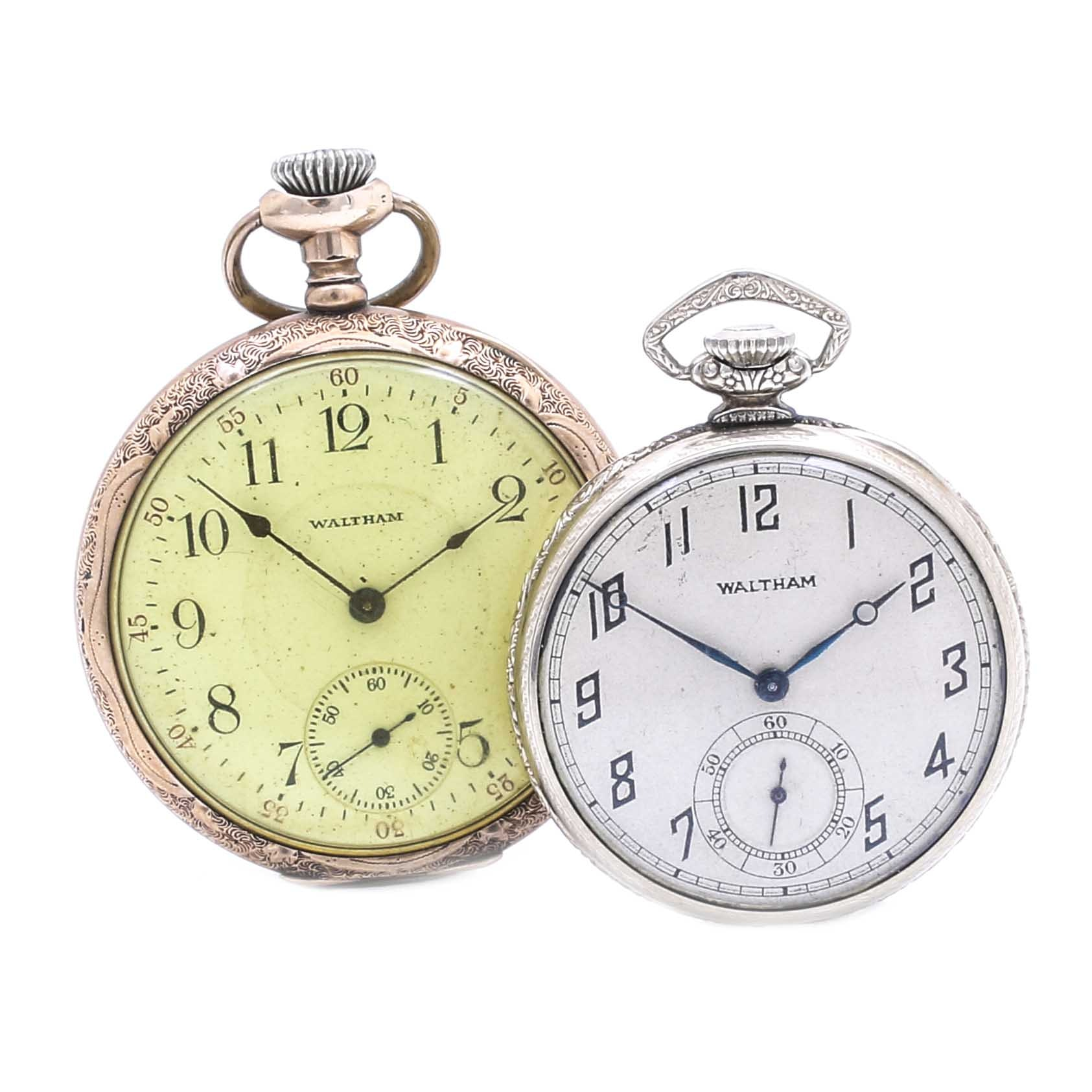 Pair of Waltham Gold Filled Pocket Watches