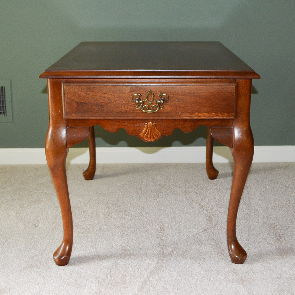 Bon Queen Anne Style Cherry Side Table By Peters Revington Furniture ...