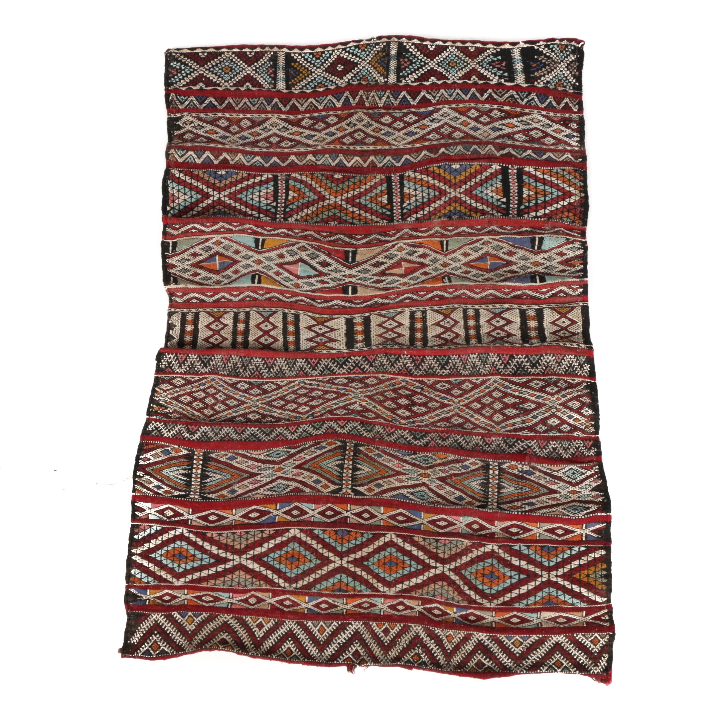 Handwoven and Embroidered Turkish Tribal Tent Decoration or Tack