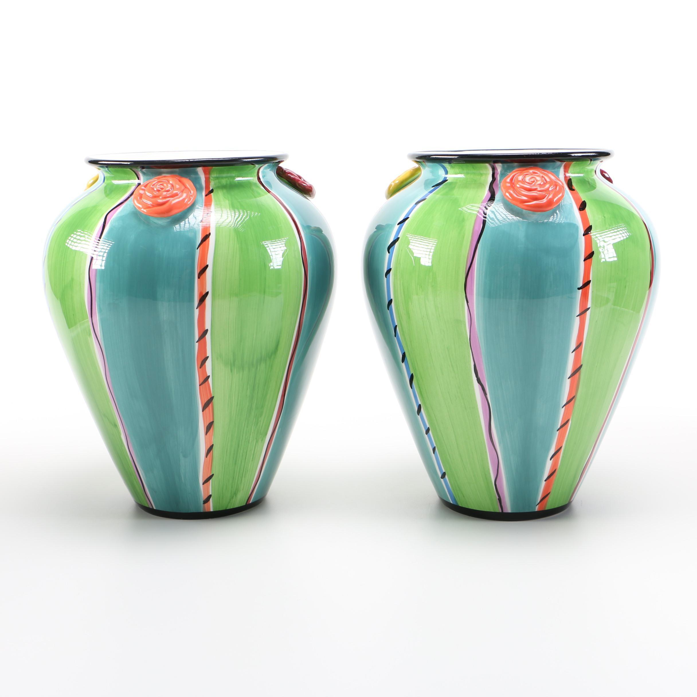 Pair of Vases by Blue Ridge Designs INC.