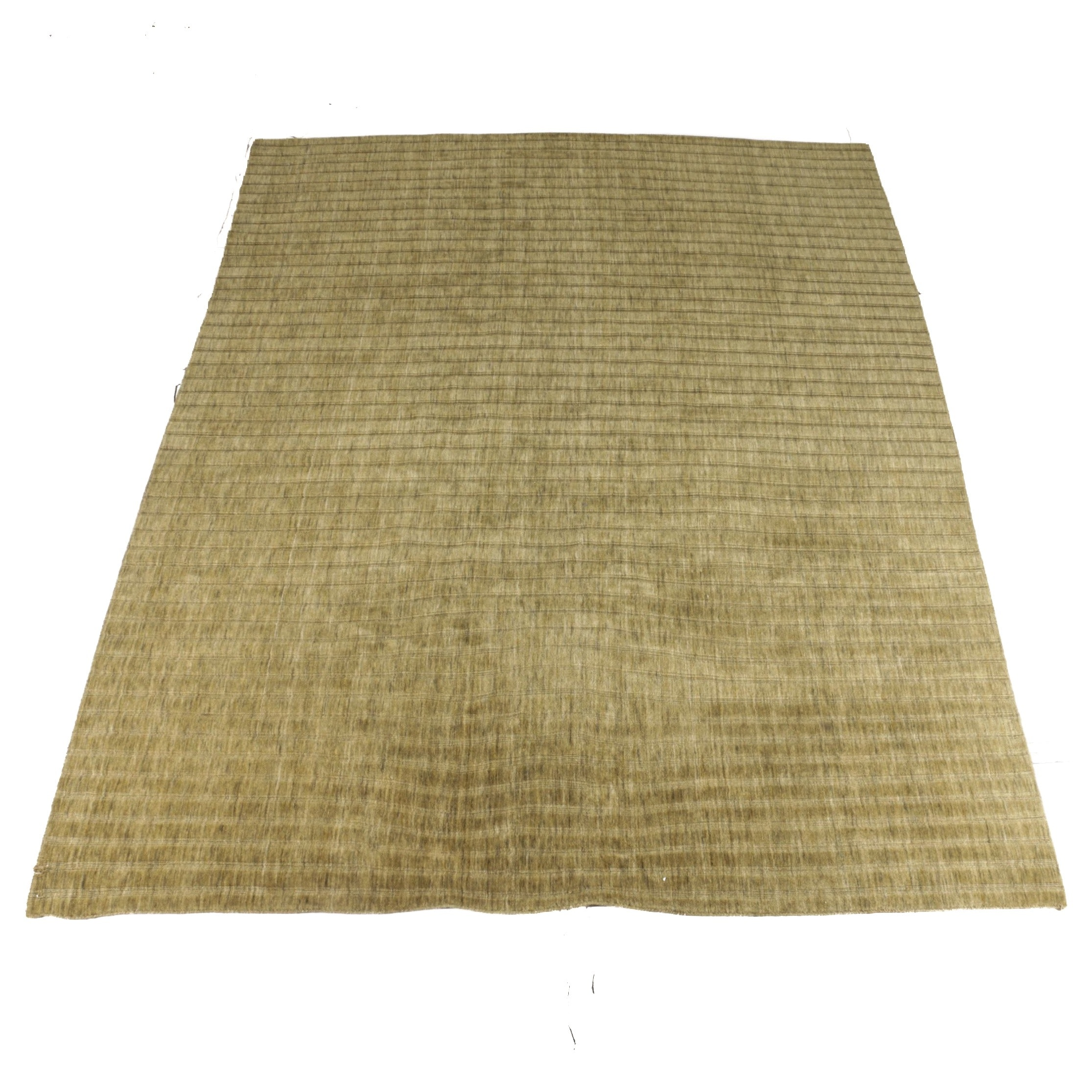 Hand-Knotted Indian Brindle Wool Area Rug