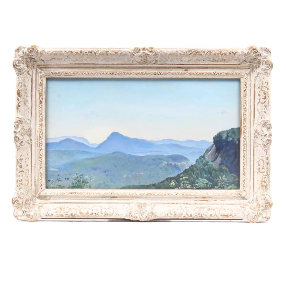 "Agnes Lowrie ""The Smoky Mountains"" Original Oil Painting"