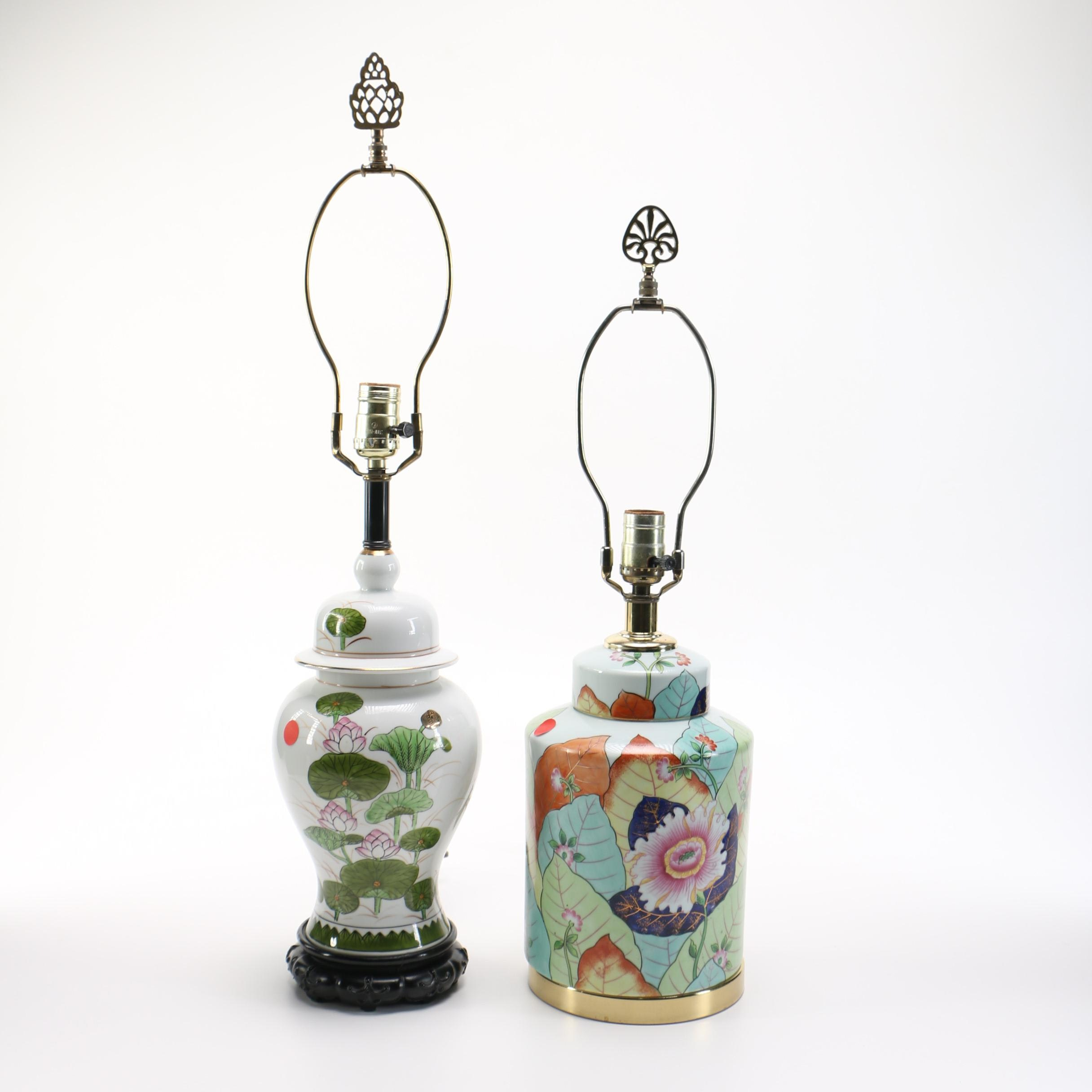 Floral Ceramic Table Lamps