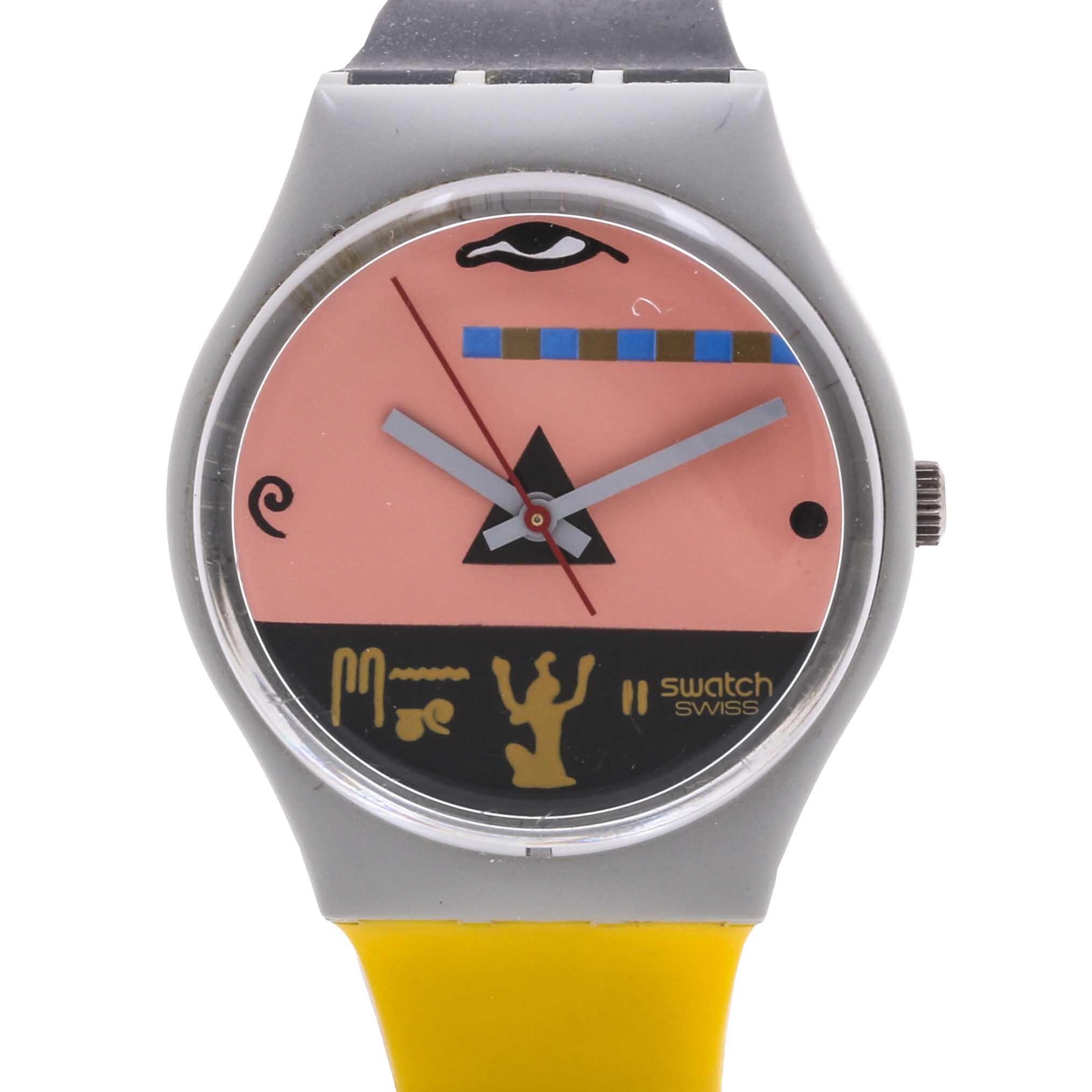 "Vintage 1986 Swatch ""Osiris Egypt"" Plastic Wristwatch"