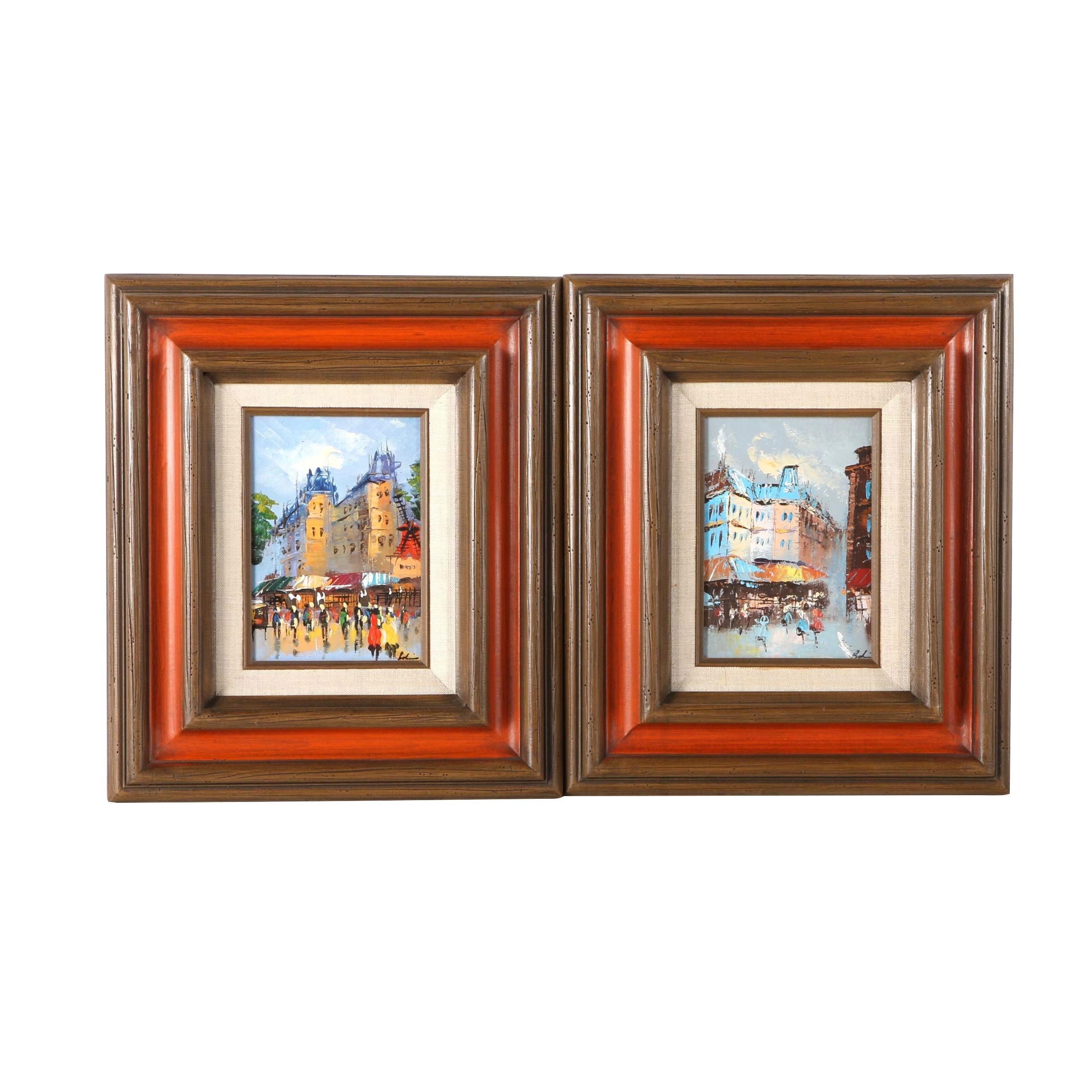 Oil Paintings of Paris Street Scenes