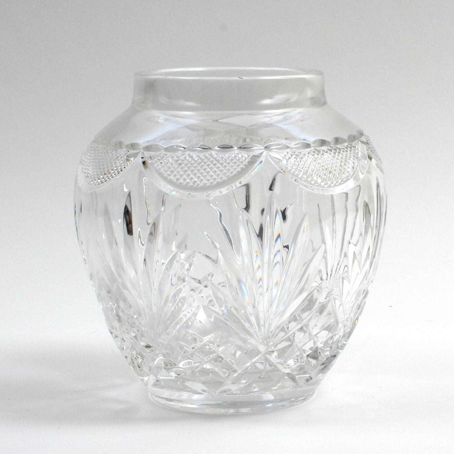 Hand-Cut Lead Crystal Vase