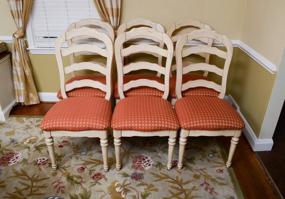 Set of French Country Style Dining Chairs
