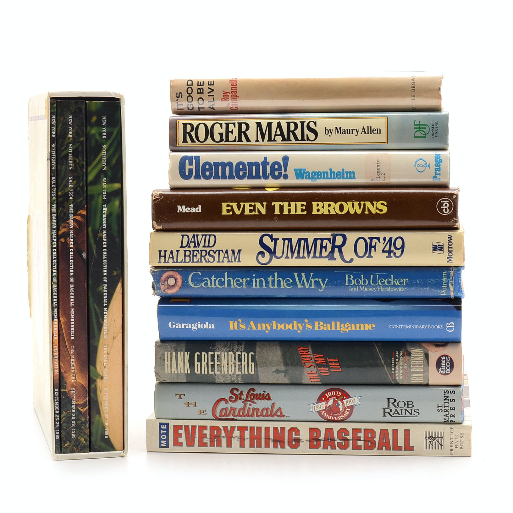 Group of Books About Baseball