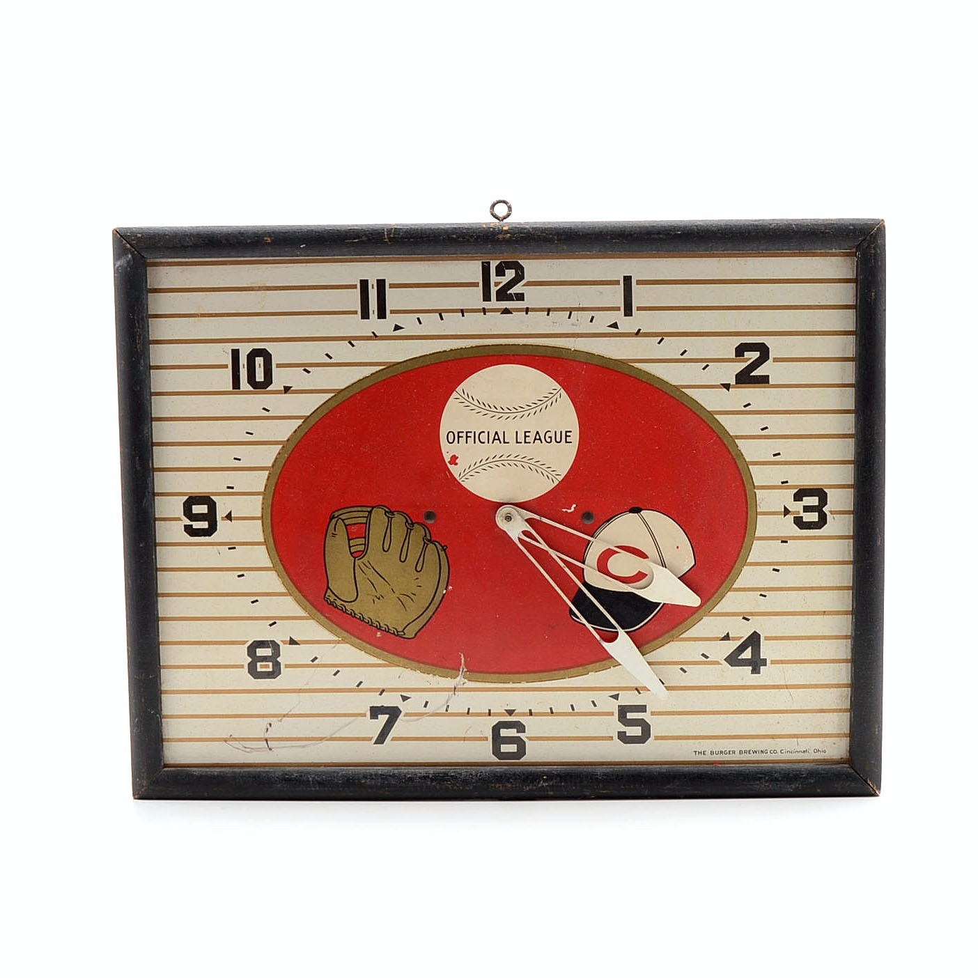 Cincinnati Reds Burger Beer Clock