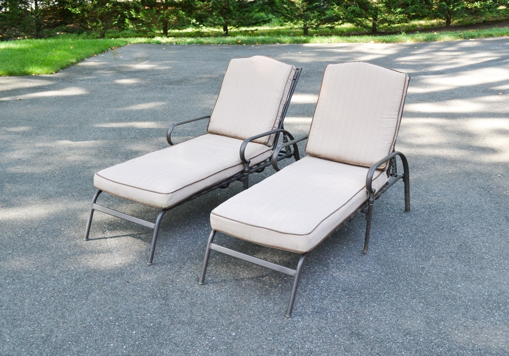 Pair of Martha Stewart Outdoor Chaise Lounge Chairs.
