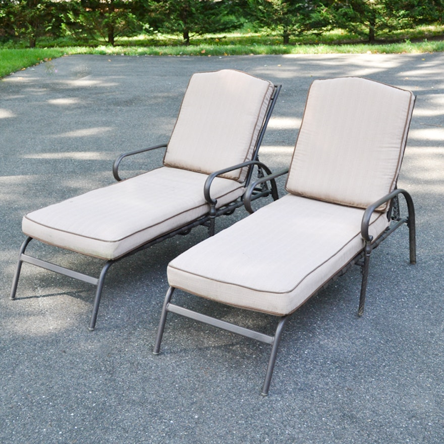 Pair Of Martha Stewart Outdoor Chaise Lounge Chairs Ebth