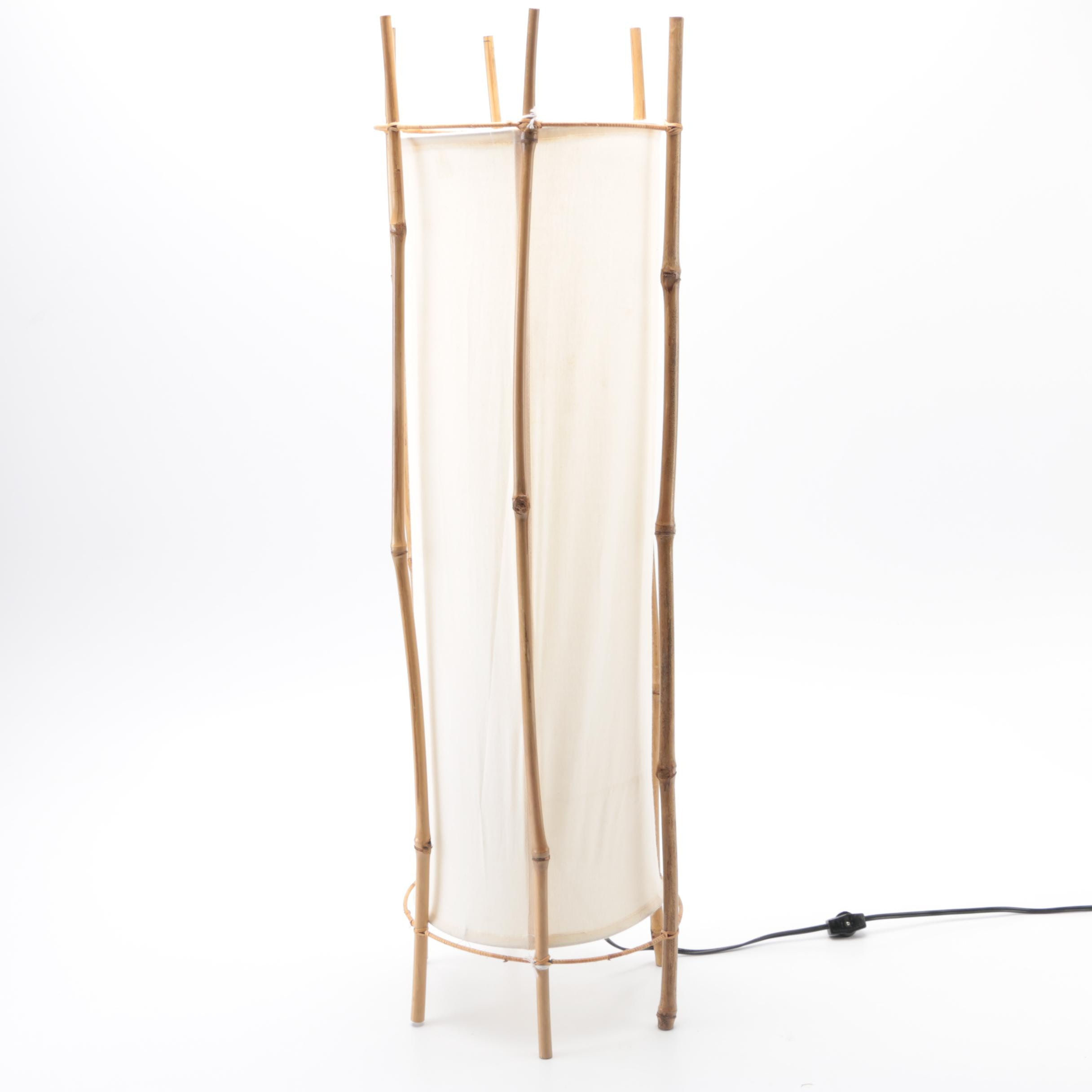 Bamboo and Cloth Floor Lamp