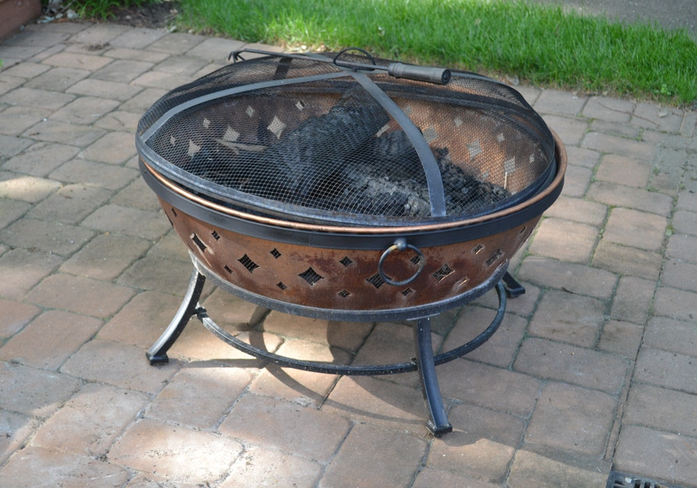 Copper Finished Fire Pit