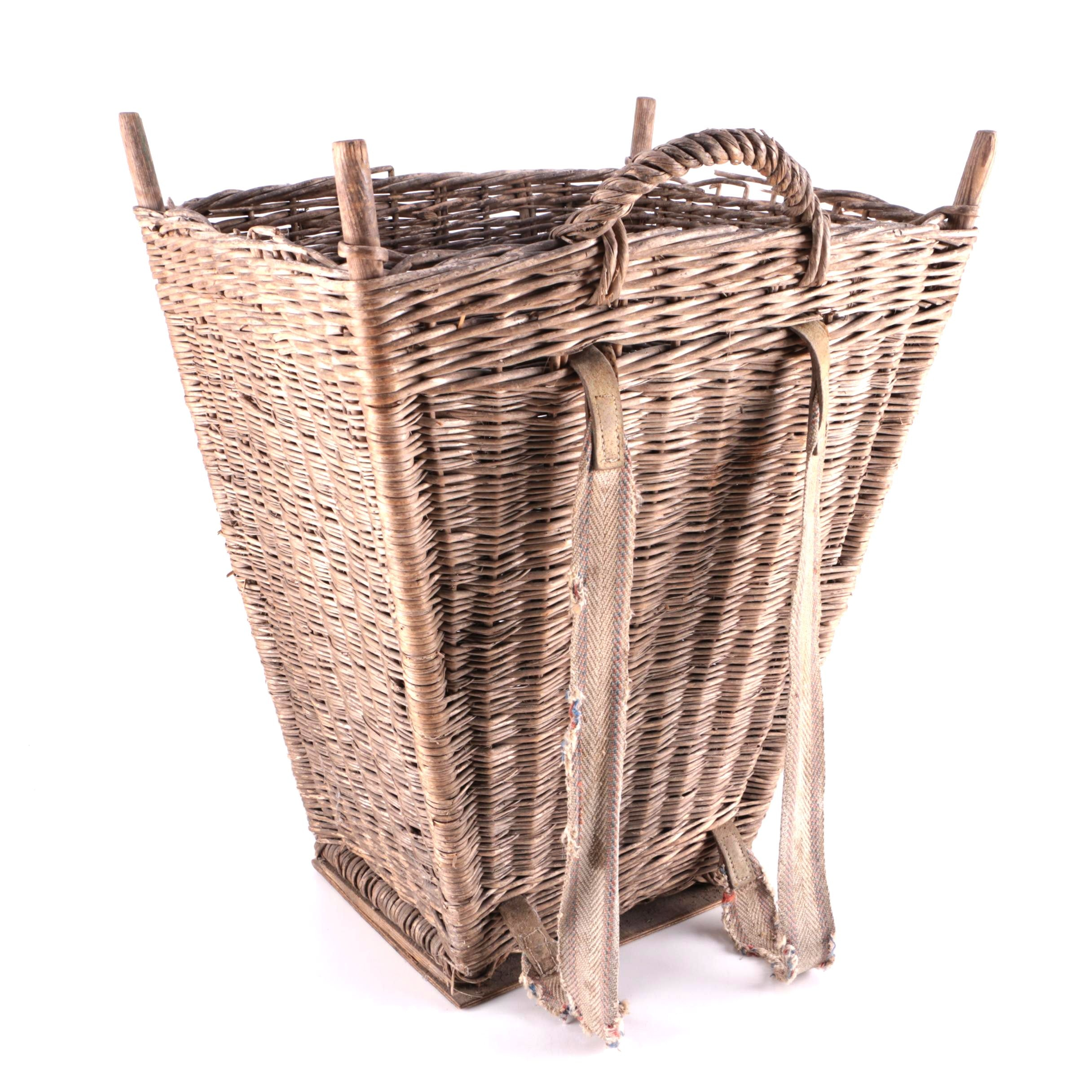 Vintage Wicker Grape Harvest Basket