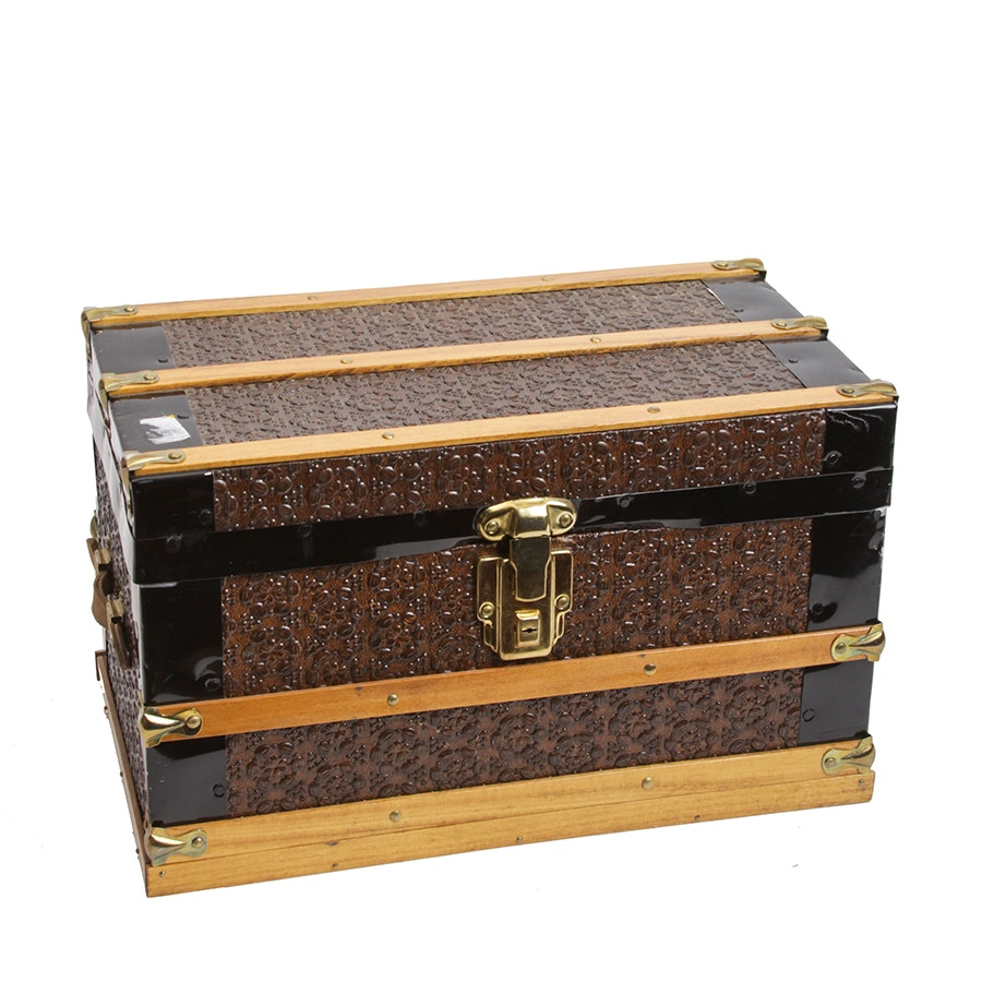 Miniature Steamer Trunk Style Box
